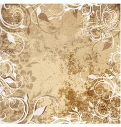Floral pattern on grunge background vector image