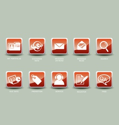 icons for web business internet email vector image vector image