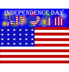 US Independence Day vector image vector image