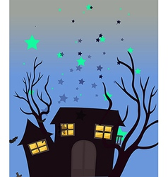 A haunted house vector