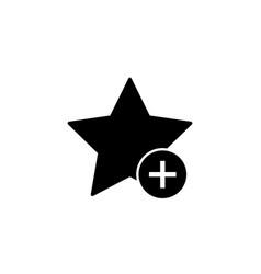 add favorite star bookmark icon vector image