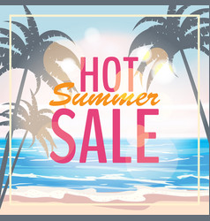 Advertisement about summer sale on background vector