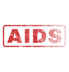 Aids rubber stamp vector