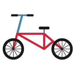 bicycle simple art geometric vector image