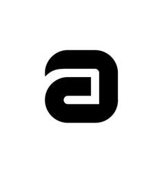 Black symbol alphabet letter a vector