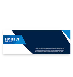 blue design modern business banner image vector image