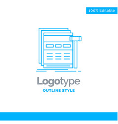 blue logo design for internet page web webpage vector image