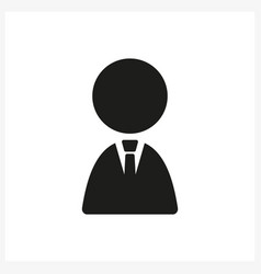 businessman icon in simple black design vector image