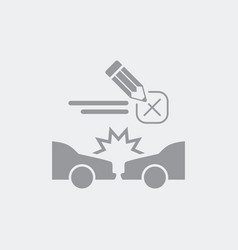 Check document for car crash vector