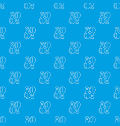 chicken leg pattern seamless blue vector image