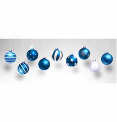 christmas blue balls vector image