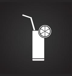 cocktail lemonade on black background vector image
