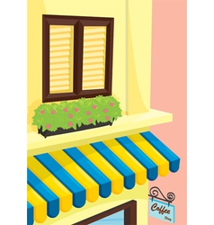 Coffee shop front vector