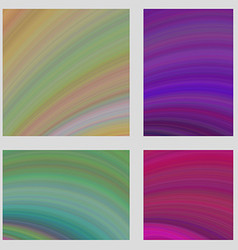 Colorful curved digital art page background set vector