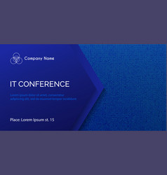 Conference template abstract dotted blue vector