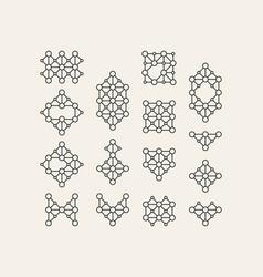 decoration element line art design vector image