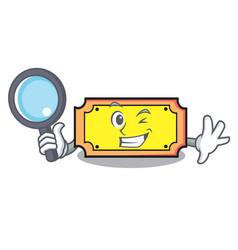 Detective ticket character cartoon style vector