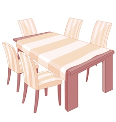 Dining table vector