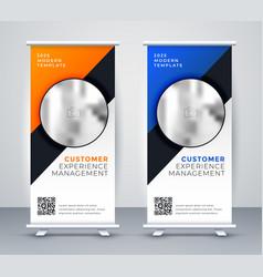 elegant roll up standee presentation banner vector image