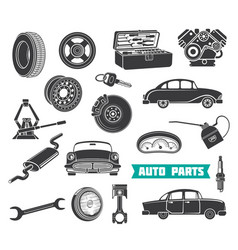 Equipment for auto repair vector