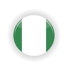 Federal Republic of Nigeria icon circle vector