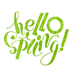 Fhrase hello spring vector