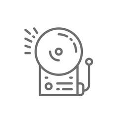 Fire alarm school bell line icon vector