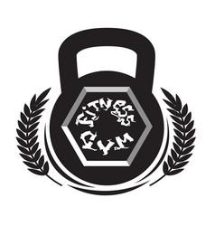 fitness center logo modern sport gym club sign vector image