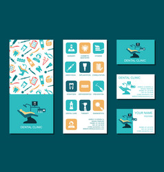 flyer and business cards for dental clinic vector image