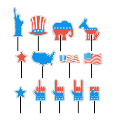 foam sign president election of america set photo vector image