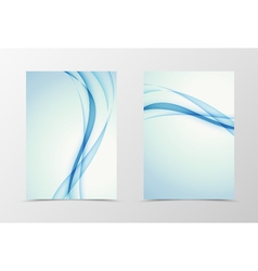 Front and back wave flyer template design vector