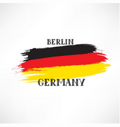 german flag with handwritten lettering germany vector image