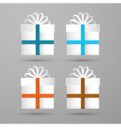 Gift Boxes Made From Paper vector image