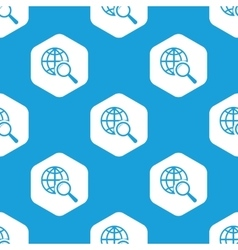 Global search hexagon pattern vector