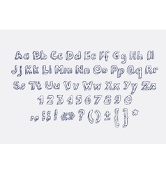 hand drawn alphabet letters doodle scribble vector image