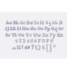 Hand drawn alphabet letters doodle scribble vector
