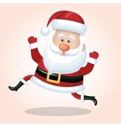 happy santa claus cartoon jump design vector image