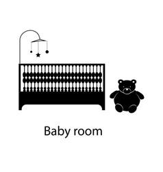 Home and hotel baby room interior with furniture vector image