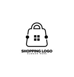 Home shop logo design real estate shop logo vector