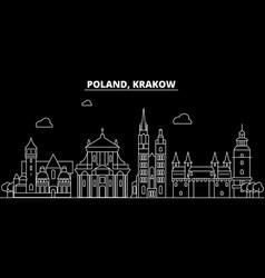 Krakow silhouette skyline poland - krakow vector