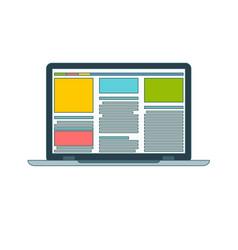 laptop flat icon vector image