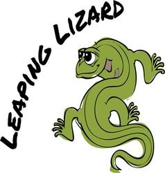 Leaping Lizard vector