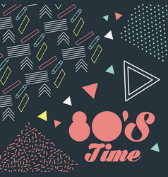 Memphis style pattern retro fashion style 80 time vector