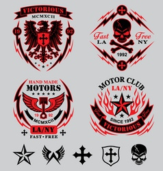 Motorcycle emblems vector