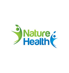 nature people health logo sign symbol logo vector image