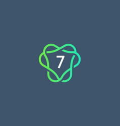 Number 7 logo icon design template creative vector