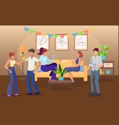 party at home flat vector image