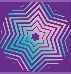 purple david star pattern vector image