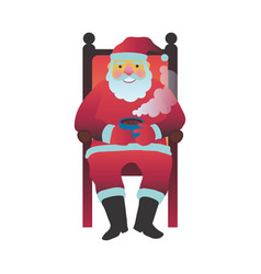 santa claus in slippers vector image