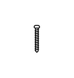 screw bolt icon vector image